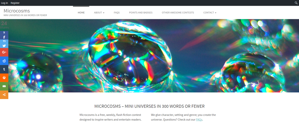 Microcosms website screenshot